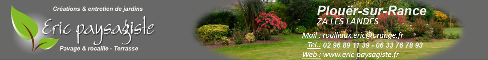 Eric Paysage création et entretien de jardin à Plouer sur Rance